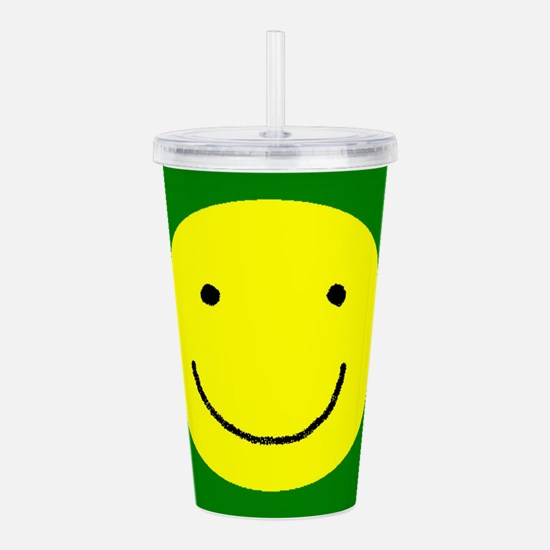 Be Happy Acrylic Double-wall Tumbler