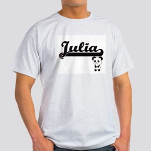 Julia Classic Retro Name Design with Panda T-Shirt