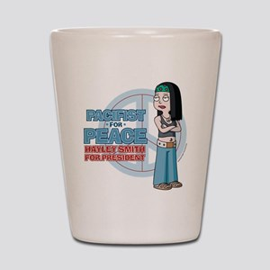 Pacifist for Peace Hayley Smith Shot Glass