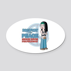 Pacifist for Peace Hayley Smith Oval Car Magnet