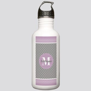 Lilac and Gray Morocca Stainless Water Bottle 1.0L