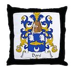 Dore Family Crest Throw Pillow