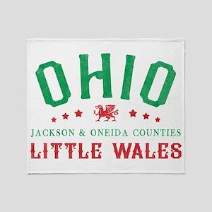 Little Wales Ohio Welsh Throw Blanket
