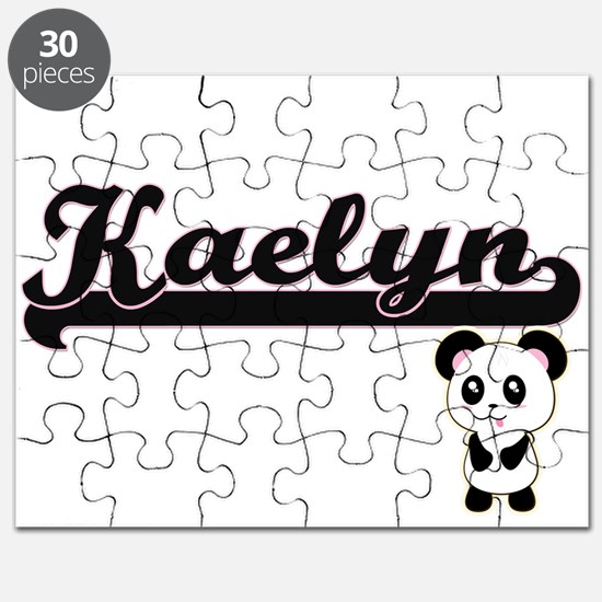 Kaelyn Classic Retro Name Design with Panda Puzzle