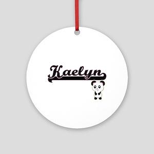 Kaelyn Classic Retro Name Design Ornament (Round)