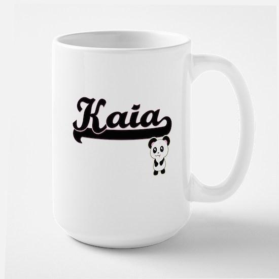 Kaia Classic Retro Name Design with Panda Mugs