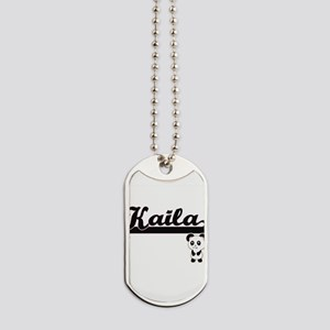 Kaila Classic Retro Name Design with Pand Dog Tags