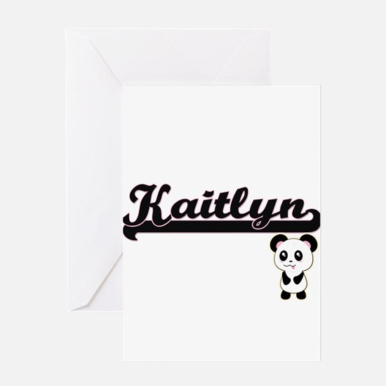 Kaitlyn Classic Retro Name Design w Greeting Cards