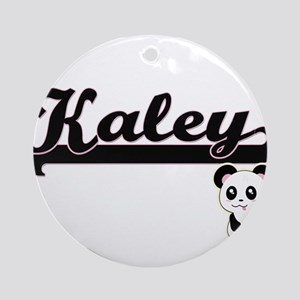 Kaley Classic Retro Name Design w Ornament (Round)