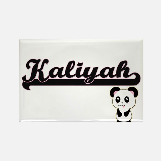 Kaliyah Classic Retro Name Design with Pan Magnets