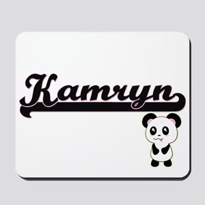 Kamryn Classic Retro Name Design with Pa Mousepad