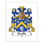 Deville Family Crest Small Poster