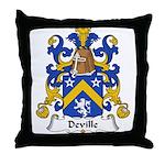 Deville Family Crest Throw Pillow