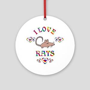 I Love Rats Ornament (Round)