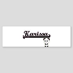 Karissa Classic Retro Name Design w Bumper Sticker