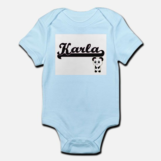 Karla Classic Retro Name Design with Pan Body Suit