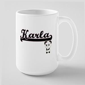 Karla Classic Retro Name Design with Panda Mugs
