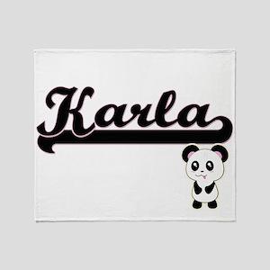 Karla Classic Retro Name Design with Throw Blanket