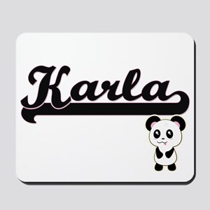 Karla Classic Retro Name Design with Pan Mousepad