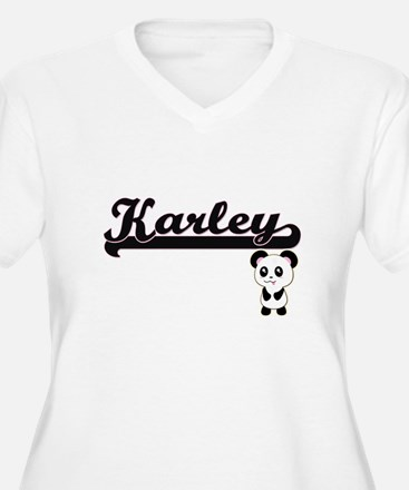 Karley Classic Retro Name Design Plus Size T-Shirt