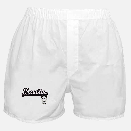 Karlie Classic Retro Name Design with Boxer Shorts