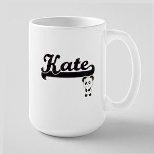 Kate Classic Retro Name Design with Panda Mugs