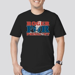 Roger for President Men's Fitted T-Shirt (dark)