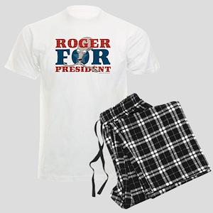 Roger for President Men's Light Pajamas