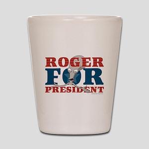 Roger for President Shot Glass