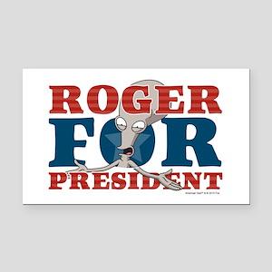 Roger for President Rectangle Car Magnet