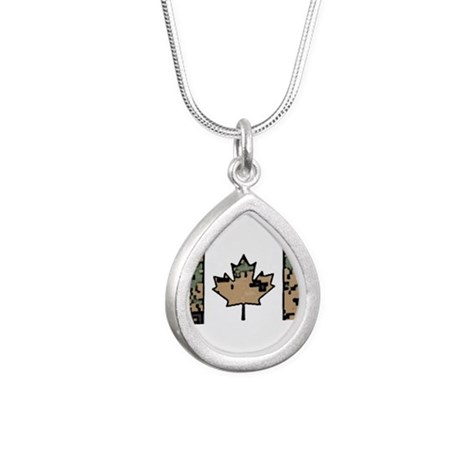 Canadian Flag Tan Digital Cam Woodland C Necklaces