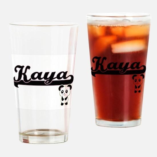 Kaya Classic Retro Name Design with Drinking Glass