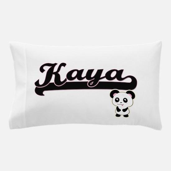 Kaya Classic Retro Name Design with Pa Pillow Case