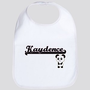 Kaydence Classic Retro Name Design with Panda Bib