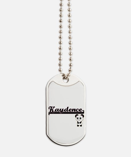 Kaydence Classic Retro Name Design with P Dog Tags