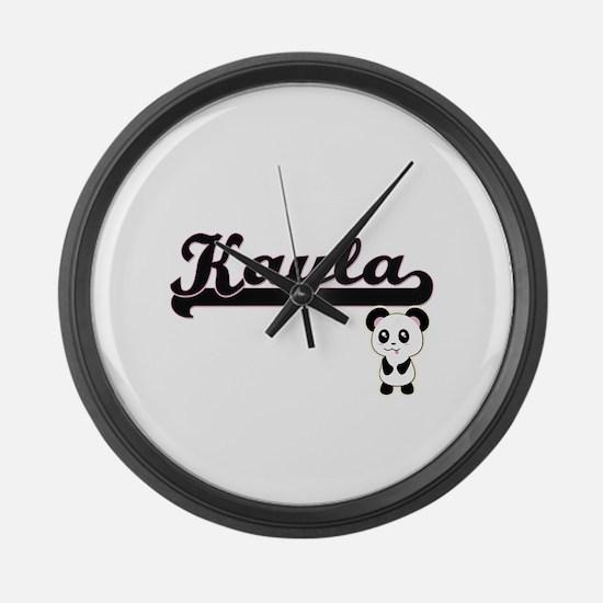 Kayla Classic Retro Name Design w Large Wall Clock