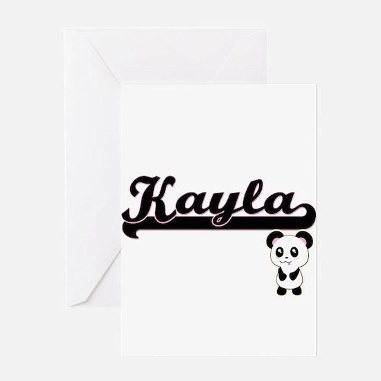 Kayla Classic Retro Name Design wit Greeting Cards