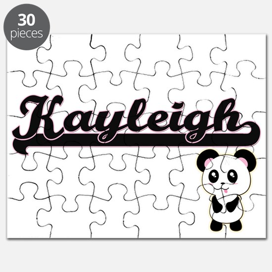 Kayleigh Classic Retro Name Design with Pan Puzzle