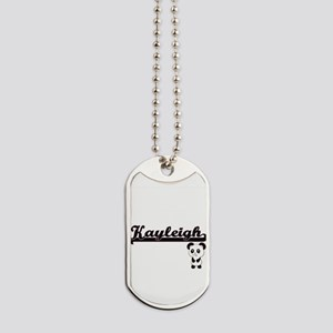 Kayleigh Classic Retro Name Design with P Dog Tags