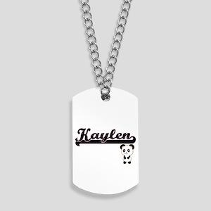 Kaylen Classic Retro Name Design with Pan Dog Tags