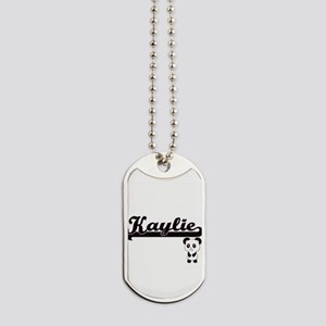 Kaylie Classic Retro Name Design with Pan Dog Tags