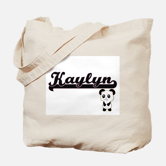 Kaylyn Classic Retro Name Design with Pan Tote Bag