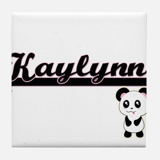 Kaylynn Classic Retro Name Design wit Tile Coaster