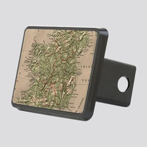 Vintage Physical Map of Ir Rectangular Hitch Cover