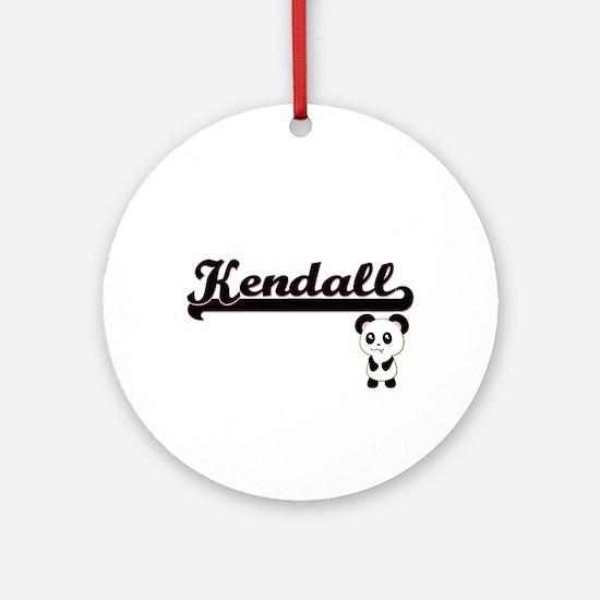 Kendall Classic Retro Name Design Ornament (Round)