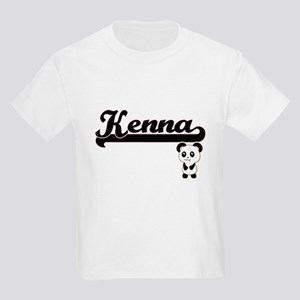 Kenna Classic Retro Name Design with Panda T-Shirt