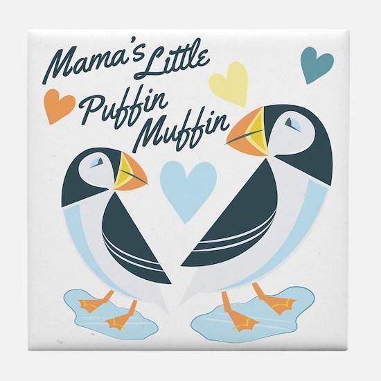 Puffer Muffin Tile Coaster
