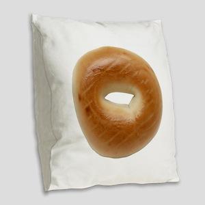 Bagel Burlap Throw Pillow