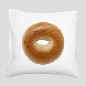 Bagel Square Canvas Pillow