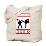 Warning: Ninjas Tote Bag